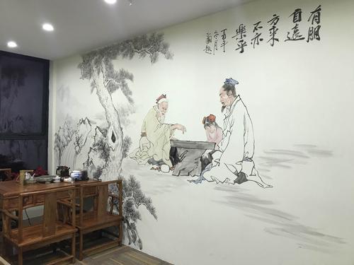 墙绘比普通的墙纸还更便宜