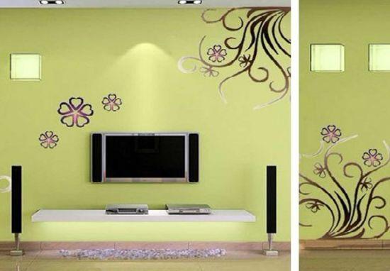 不同的房间手绘墙表现方式也是不同