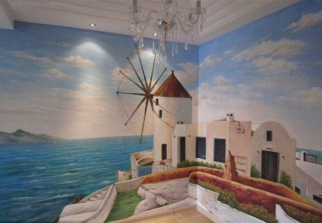 屋顶奇幻卧式很好看,墙绘该如何打造呢?